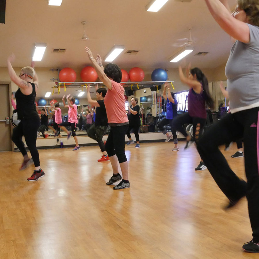 zumba class at Shirlee's gym in Upland CA