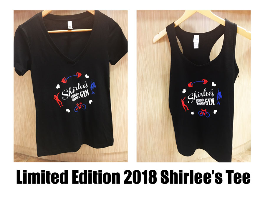 46a91e7c8 Shirlee's Ultimate Women's Gym is proud to offer a new T-shirt for 2018  with proceeds going to support the City of Hope. The design comes on both  v-neck and ...